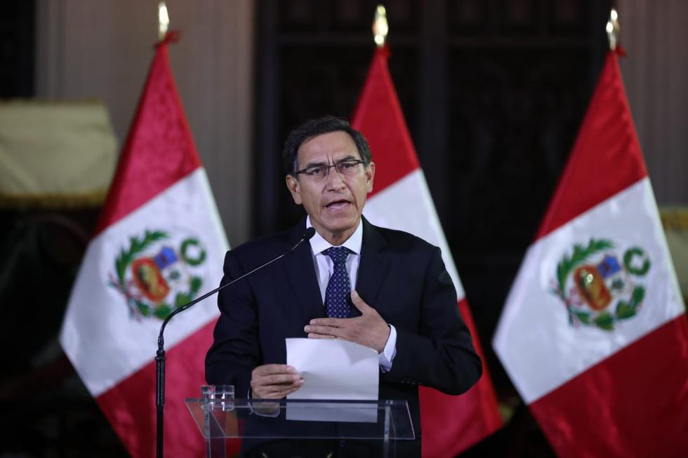 Martín Vizcarra anunció el cierre del Congreso en su mensaje a la Nación. (Giancarlo Ávila/GEC)