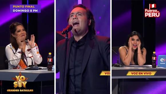 """El imitador de 'Dyango' Jairo Tafur cantó """"Ese hombre"""" del dúo Pimpinela causando sorpresa en todos. (Captura de pantalla / Latina)."""