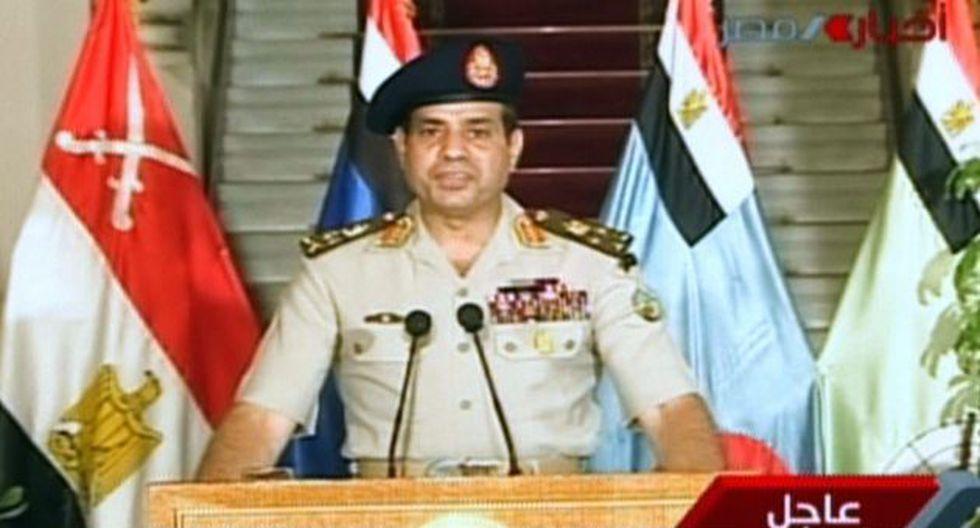 Abdel Fattah al-Sisi en discurso televisado. (AFP)