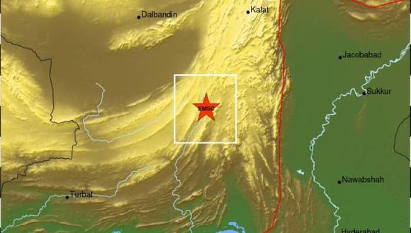 Ubicación del epicentro del terremoto. (USI)