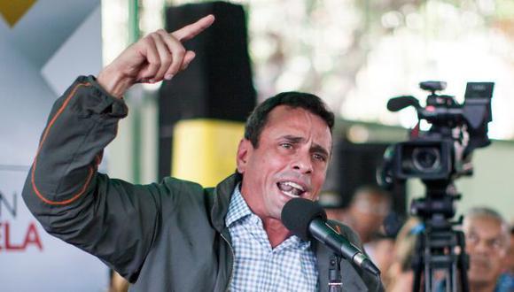 """Henrique Capriles: """"Hay que activar ya"""" el referendo para decidir la suerte de Nicolás Maduro. (EFE)"""