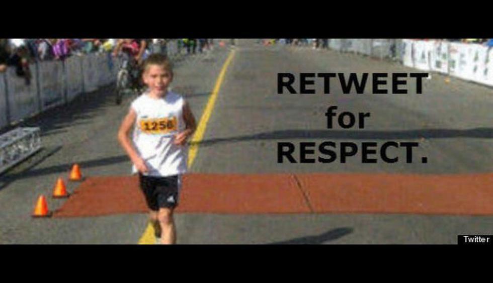 Niño de 8 años que supuestamente falleció en la maratón. La cuenta de Twitter @HopeForBoston fue suspendida.