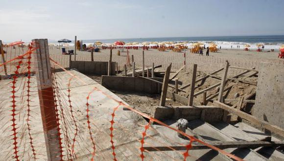 NO AVANZA. Alcaldesa de Lima había anunciado que obra estaría lista en el verano de 2012. (Rochi León)