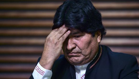 Evo Morales lamentó no poder ver por última vez a su hermana fallecida por coronavirus en Bolivia. (Foto: RONALDO SCHEMIDT / AFP).