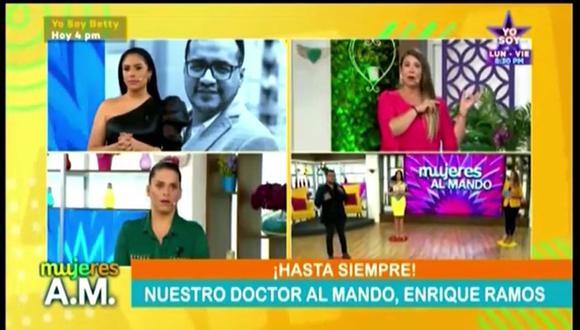 """Conductoras de """"Mujeres Al Mando"""" lloran al anunciar que médico panelista del programa falleció de COVID-19. (Foto: Captura)"""