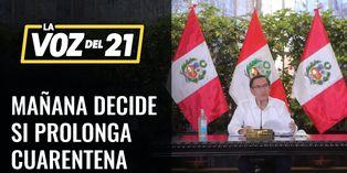 COVID-19: Presidente Vizcarra mañana decide si se amplia cuarentena en Perú