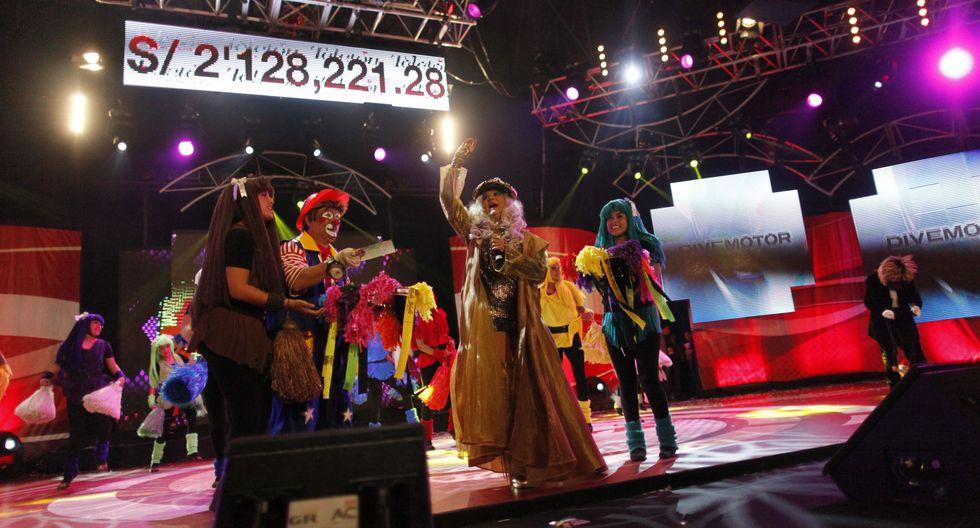 Teletón 2012: Meta:S/ 8,000,000/ Recaudado: S/ 7,325,438.23. (Foto: USI)