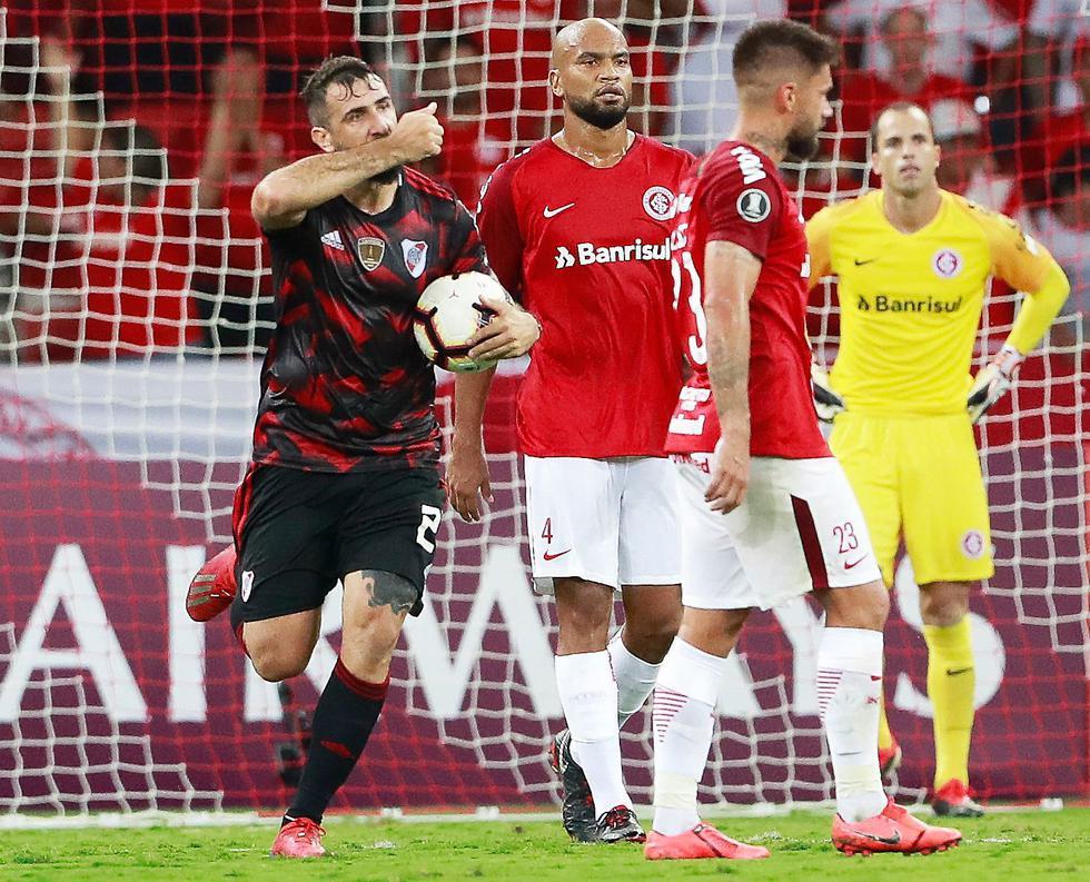 River Plate vs. Internacional. (AFP)