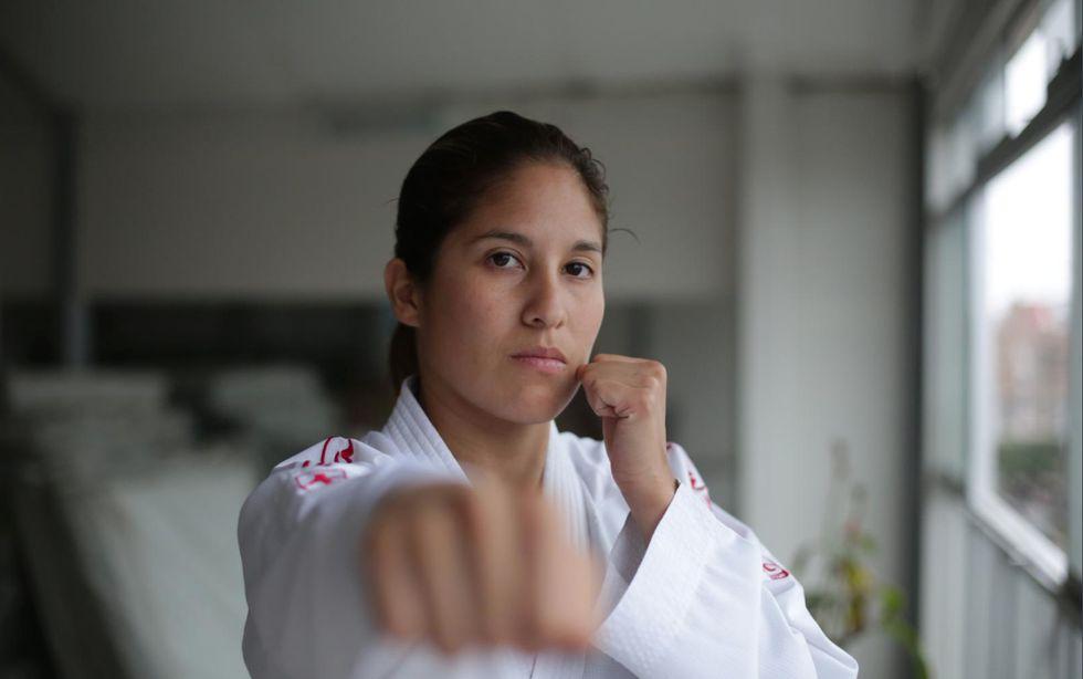 "Alexandra Grande Risco, campeona de Karate: ""Volveré a ser la mejor de América en Lima 2019"". (Marco Ramón/GEC)"