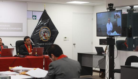 Pier Figari participó de la audiencia vía videoconferencia. (Juan Ponce/GEC)
