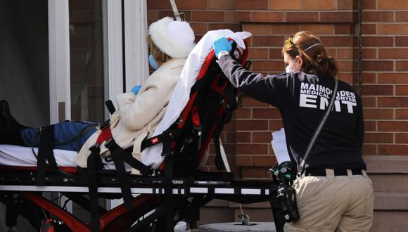 El epicentro infeccioso en EE.UU. está en Nueva York, con más de 10 mil muertos. (AFP)