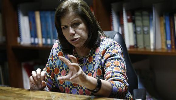 Lourdes Flores respaldó posición de congresista Juan Carlos Eguren.  (César Fajardo)