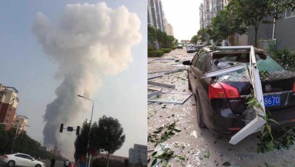 Explosiones ocurren regularmente en China, generalmente en el sector industrial. (Foto: Twitter - @EChinanews)
