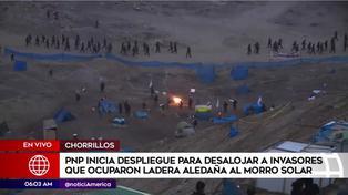 Policía inicia operación de desalojo de familias que invaden zonas aledañas al Morro Solar