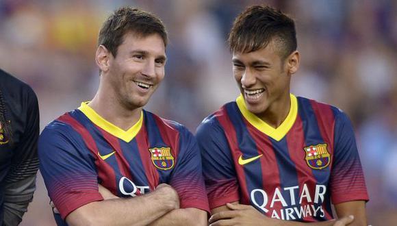 La dupla Messi-Neymar ya comenzaron a hacer diabluras. (AP)