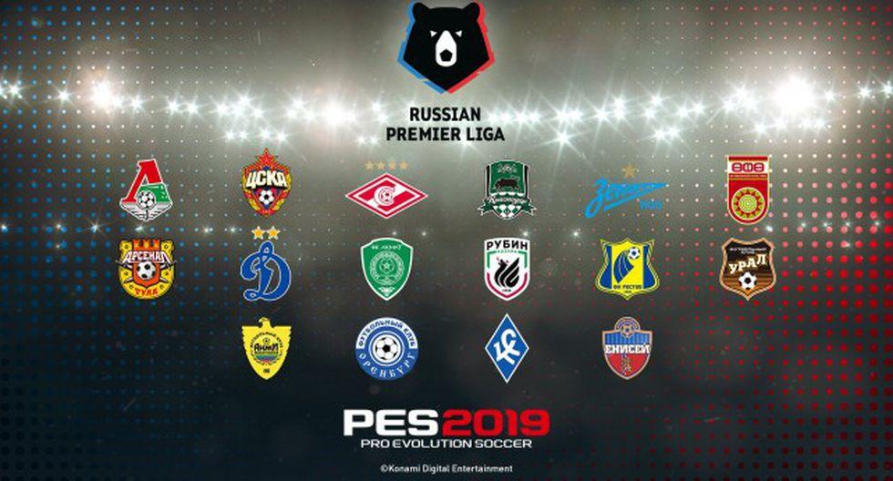Se ha confirmado la presencia de la liga rusa en el próximo PES 2019.