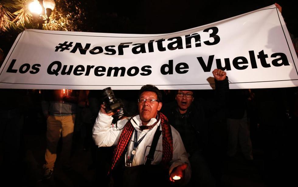 FARC: Periodistas secuestrados por miembros de la ex guerrilla habrían sido liberados. (EFE)
