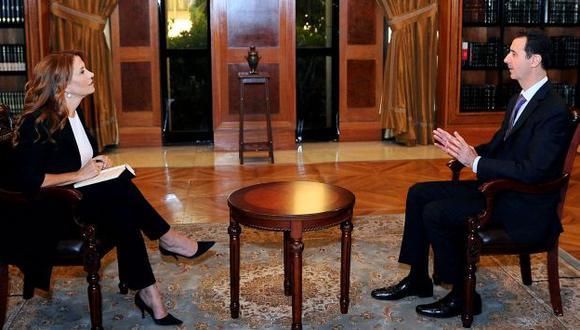 Al Assad fue entrevistado por la televisora Rainews24. (AP)