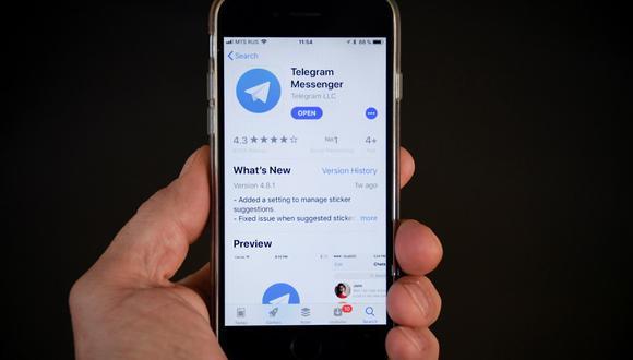 En la primera semana de enero, Telegram superó los 500 millones de usuarios activos mensuales, informó su fundador Pável Dúrov.  (Alexander NEMENOV / AFP)