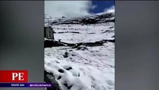 Fuertes nevadas afectan zonas altas de la región Cusco