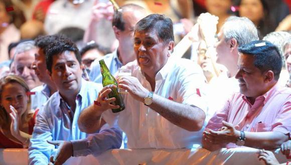 Alan García realizó el primer mitin electoral de Alianza Popular. (Luis Gonzales/Perú21)