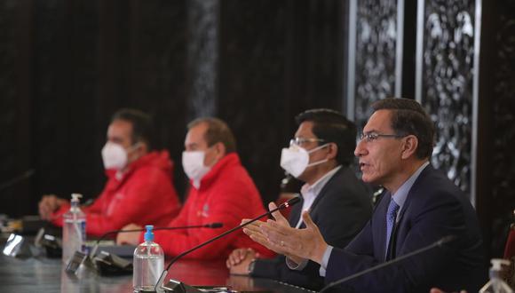 El presidente Martín Vizcarra convocó hoy a elecciones para abril de 2021. (Presidencia)