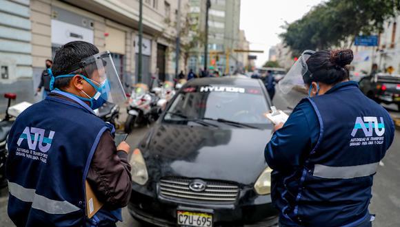 La ATU informó a los conductores de taxi, buses o movilidad de personas, los documentos que deben presentar durante una intervención de fiscalización. (Foto: ATU)
