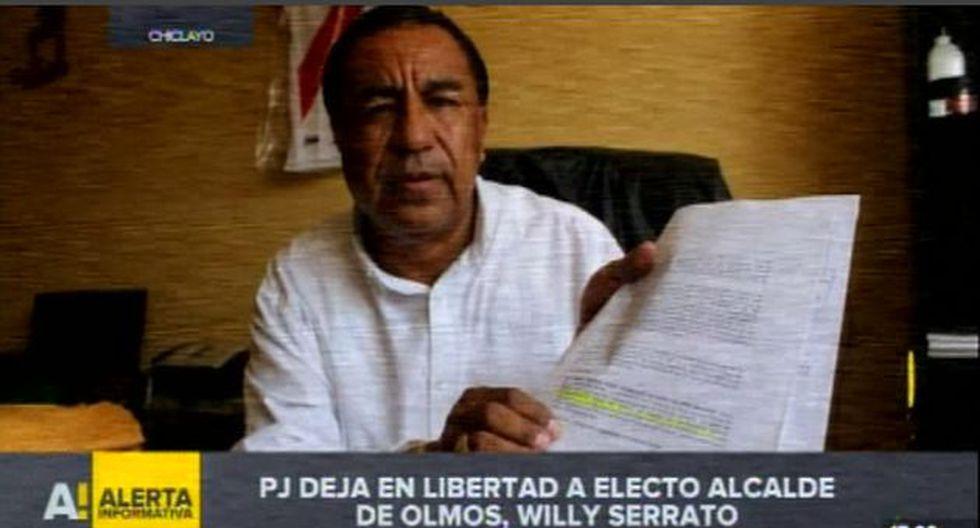 El Poder Judicial dejó el libertad bajo comparecencia al electo alcalde Olmos (Chiclayo-Lambayeque), Willy Serrato. (Video: RPP)