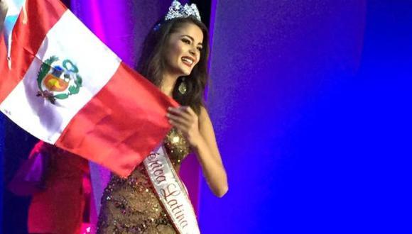 Laura Spoya ganó una nueva corona para el Peú. (Organización Miss Perú)