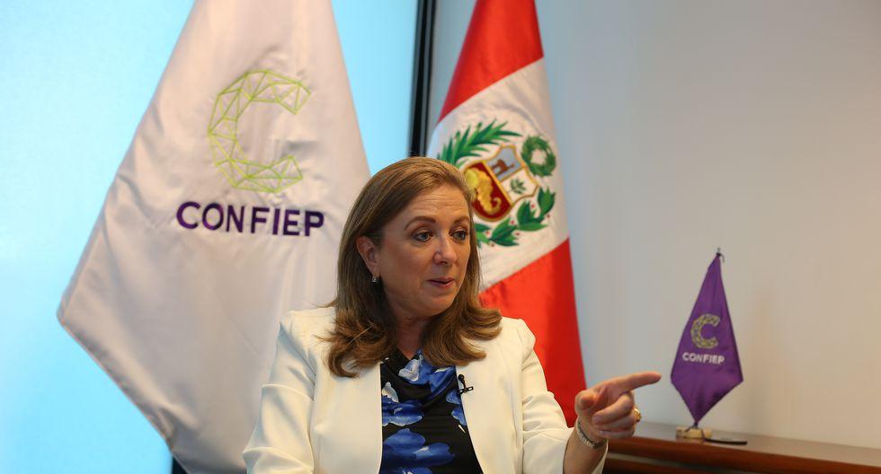 María Isabel León afirmó que ya se ha reunido con la ministra de Educación, Flor Pablo, para que se hagan las correcciones necesarias. (Foto: Confiep)