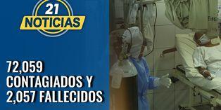 Coronavirus en Perú: 72 059 contagiados de COVID-19 en el día 58 de la cuarentena