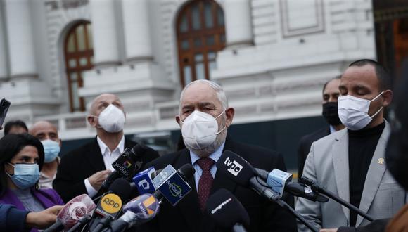 """Montoya dijo esperar que el Ejecutivo """"sincere"""" el rol que cumple el sentenciado secretario general de Perú Libre, Vladimir Cerrón, en el Gobierno.(Foto: Hugo Perez / @ photo.gec)"""