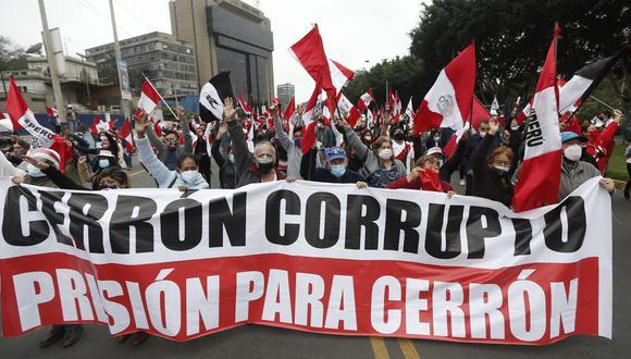 """""""Marcha contra la dictadura comunista"""" en el Campo de Marte (Jorge Cerdán/GEC)."""