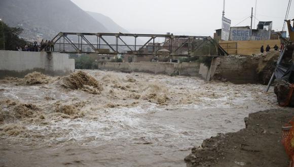 El río Rímac aumentó su caudal por las continuas lluvias en la sierra central. (Imagen referencial/GEC)