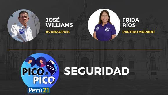 Pico a Pico: José Williams Zapata y Frida Ríos Noriega.