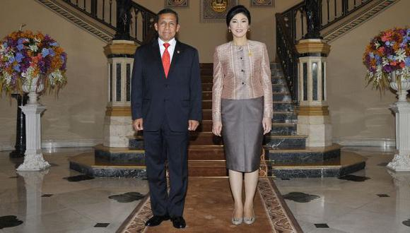 Tratado. Humala y la premier Shinawatra anunciaron el acuerdo. (Difusión)