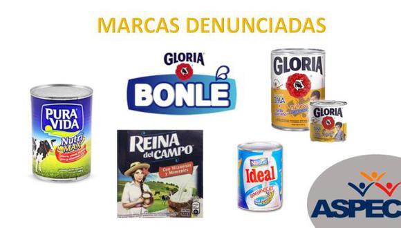 Aspec interpone denuncias ante Indecopi contra Gloria y Nestlé. (Aspec)