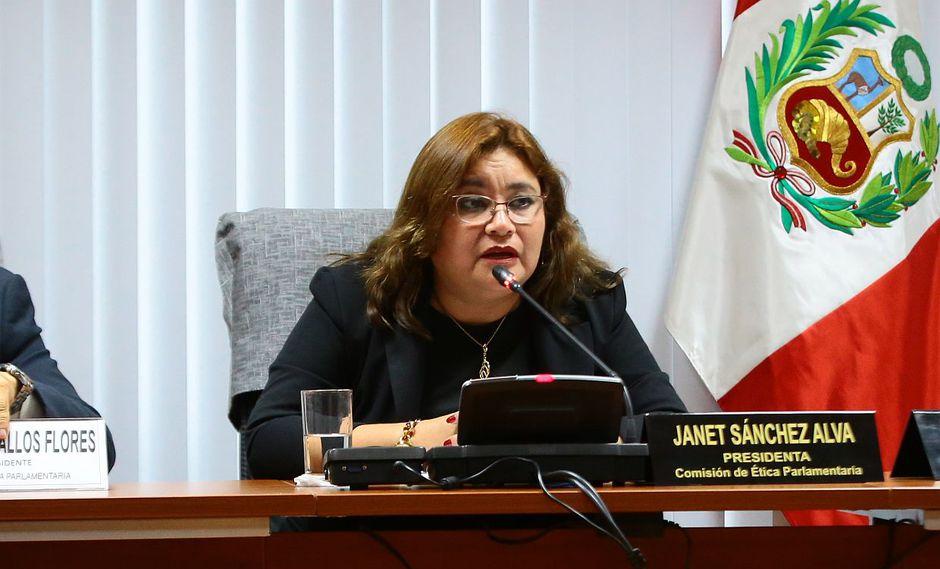La congresista Janet Sánchez seguirá a cargo de la Comisión de Ética Parlamentaria. (Foto: Congreso)