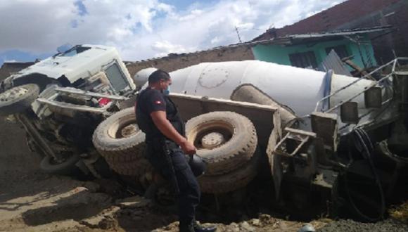 Junín: ambas partes llegaron a un acuerdo para retirar el camión y pagar por los daños. (Foto: captura de video)