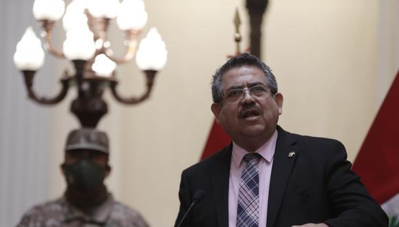 Merino acusó al presidente Vizcarra de la crisis política generada por el rechazo congresal al voto de confianza. (Foto Renzo Salazar)