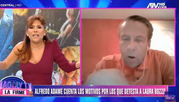 Magaly Medina corta entrevista con Alfredo Adame