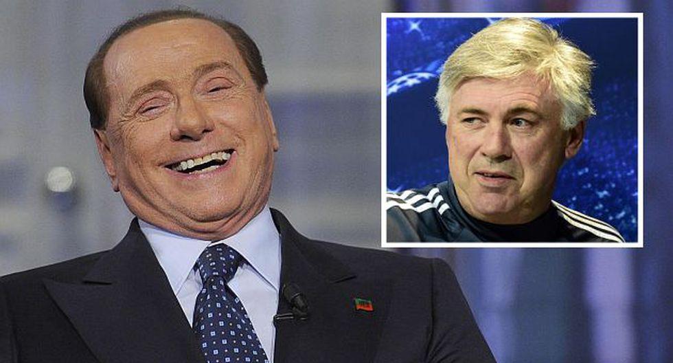 Silvio Berlusconi ve poco probable que Carlo Ancelotti regrese al Milan. (EFE)