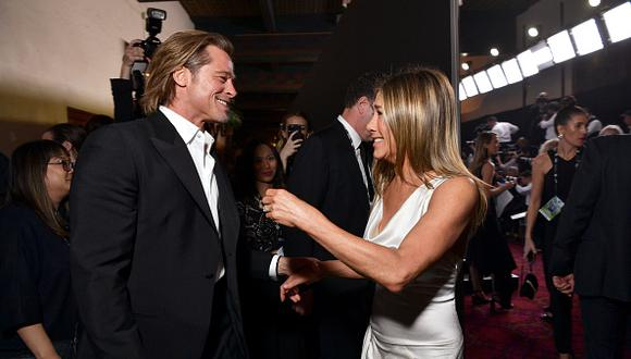 Brad Pitt y Jennifer Aniston en Los Angeles, California. (Photo by Emma McIntyre/Getty Images for Turner)