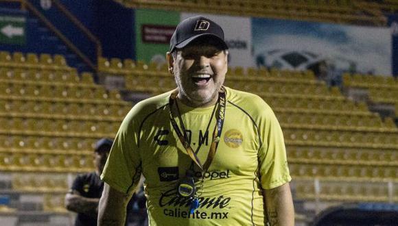 Diego Maradona es entrenador de Dorados de Sinaloa desde septiembre del 2018. (Foto: Dorados de Sinaloa)
