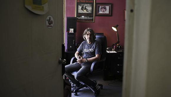 Manolo Barrios, guitarrista, fundador y compositor de Mar de Copas. (Foto: Luis Centurión)