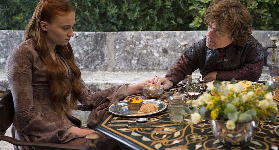 Sansa Stark (Sophie Turner) y Tyrion Lannister (Peter Dinklage), una inusual pareja. (HBO)