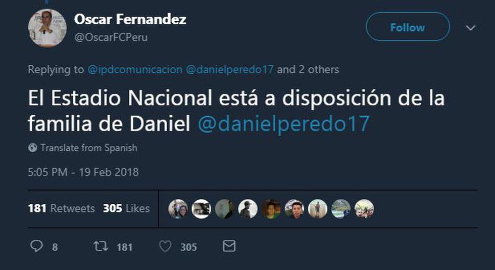 El IPD ha ofrecido sus instalaciones para darle el último adiós a Daniel Peredo. (Óscar Fernández)
