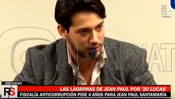 Fiscalía solicitó 4 años de prisión para Jean Paul Santa María por supuesto soborno a policía. (Latina)