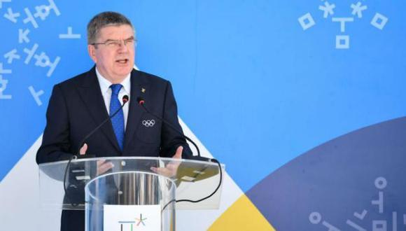 """""""Esto es un legado para todos los atletas sudamericanos"""", dijo el presidente del COI, Thomas Bach. (AFP)"""