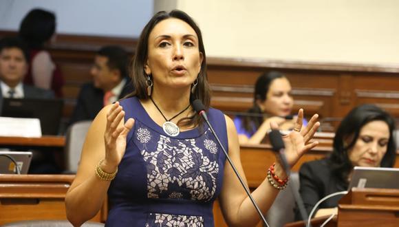 La congresista Patricia Donayre señaló que su bancada aún no ha tomado una posición respecto a la moción de interpelación. (Foto: Congreso)
